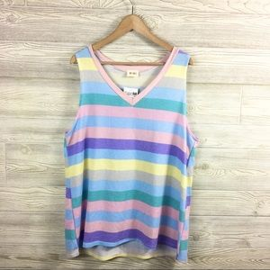 BiBi | Striped V-Neck Tank Top